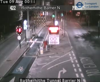Rotherhithe Tunnel Barrier N traffic camera.