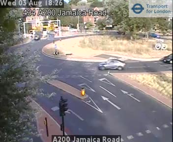 A200 Jamaica Road traffic camera.