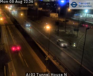 A102 Blackwall Tunnel House North traffic camera.