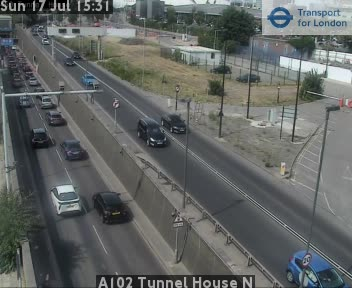 A102 Blackwall Tunnel House North traffic camera.