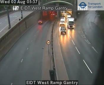 EIDT West Ramp Gantry traffic camera.