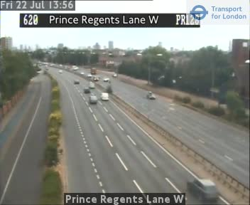 Prince Regents Lane W traffic camera.
