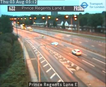 Prince Regents Lane E traffic camera.