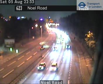 Noel Road traffic camera.