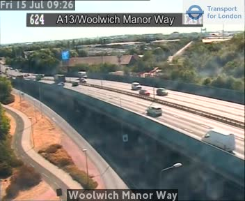 Woolwich Manor Way traffic camera.