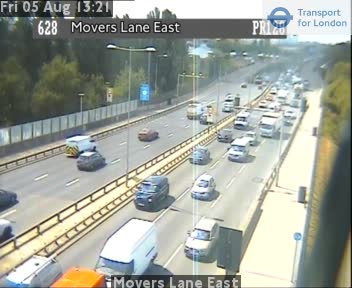 Movers Lane East traffic camera.