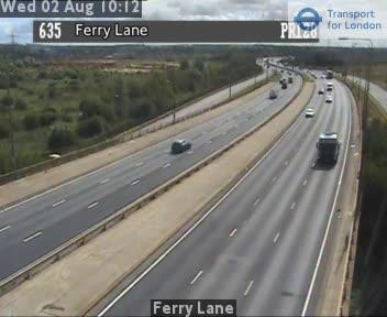 Ferry Lane traffic camera.