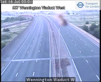 Wennington Viaduct W traffic camera.