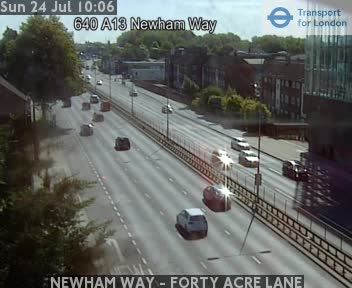 NEWHAM WAY - FORTY ACRE LANE traffic camera.