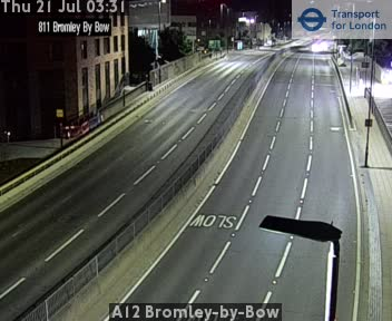 A12 Bromley-by-Bow traffic camera.