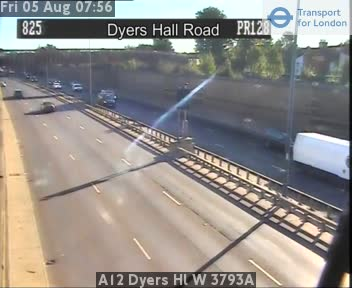 A12 Dyers Hall West 3793A traffic camera.