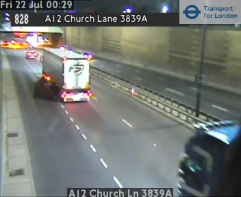 A12 Church Lane 3839A traffic camera.