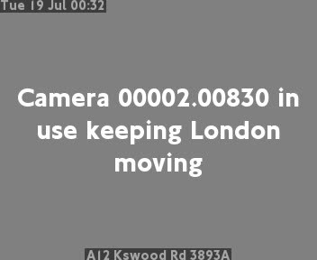 A12 Kingswood Road 3893A traffic camera.