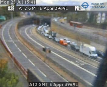 A12 GMT E Approach 3969L traffic camera.