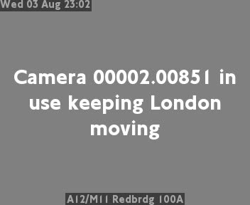 A12 / M11 Redbridge 100A traffic camera.