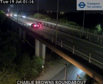 CHARLIE BROWNS ROUNDABOUT traffic camera.