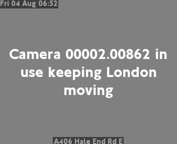 A406 Hale End Road E traffic camera.
