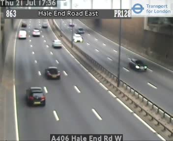 A406 Hale End Road W traffic camera.