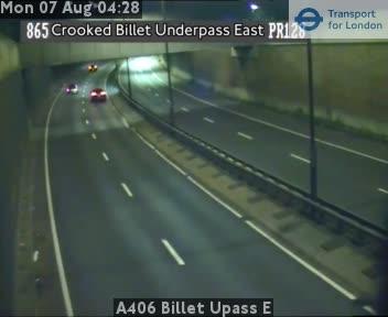 A406 Billet Underpass E traffic camera.