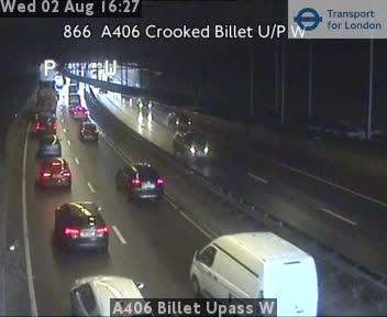 A406 Billet Underpass W traffic camera.