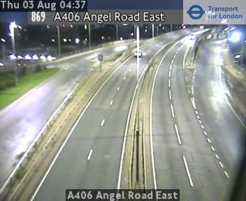 A406 Angel Road East traffic camera.