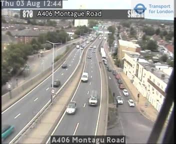 A406 Montagu Road traffic camera.