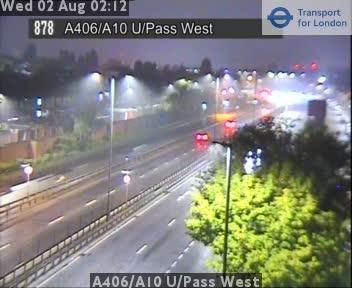 A406 / A10 Underpass West traffic camera.