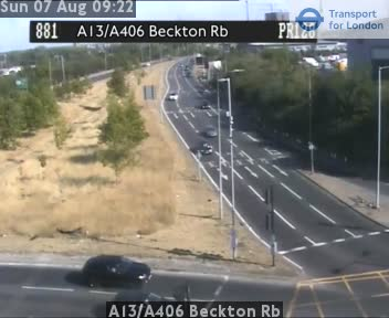 A13 / A406 Beckton Roundabout traffic camera.