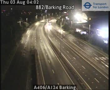 A406 / A124 Barking traffic camera.