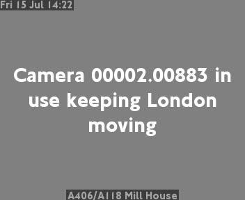 A406 / A118 Mill House traffic camera.