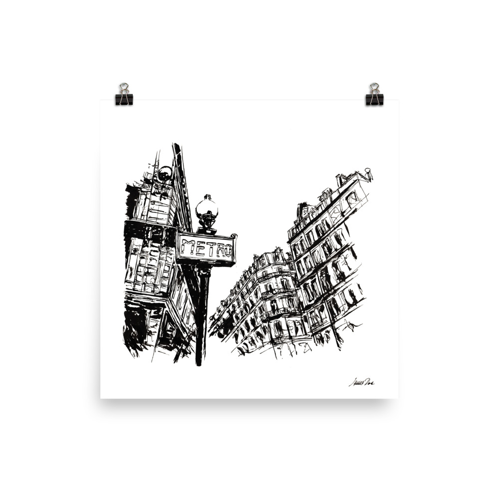 Inkscape 3 Paris Art print