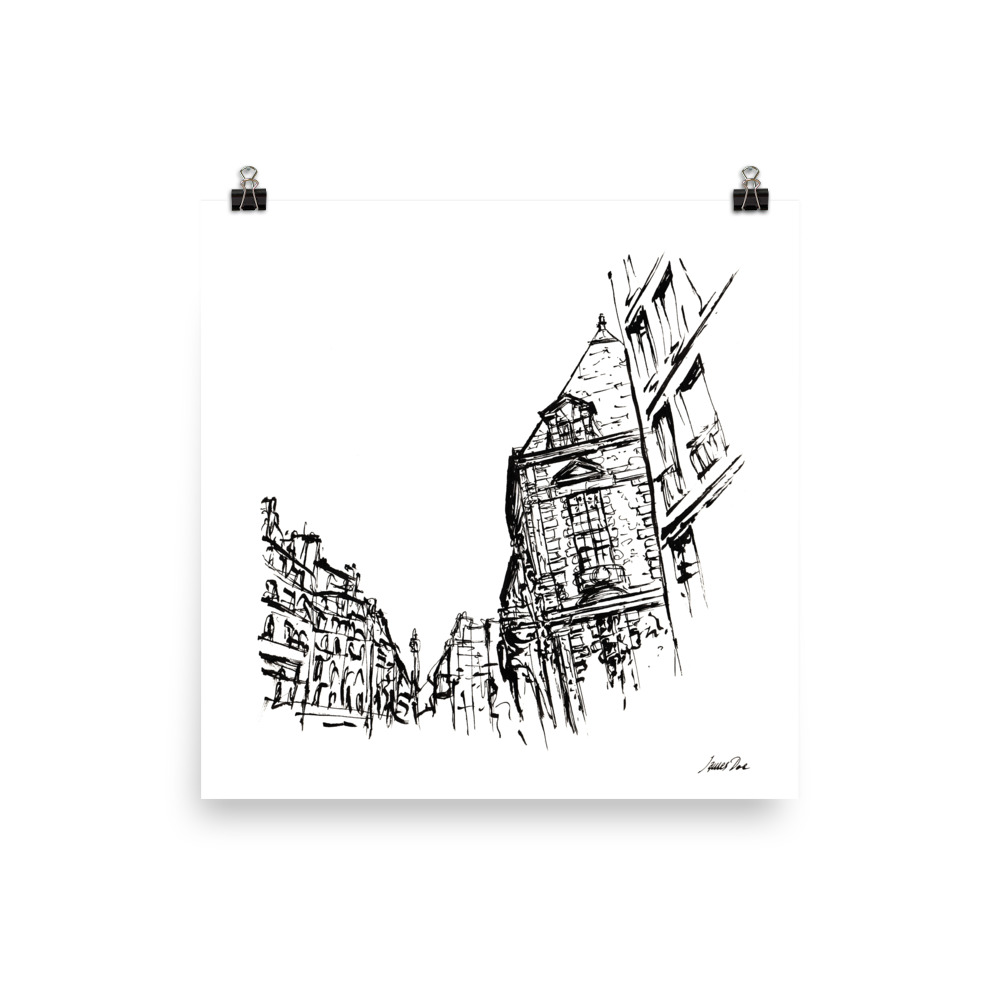Inkscape 5 Paris Art print
