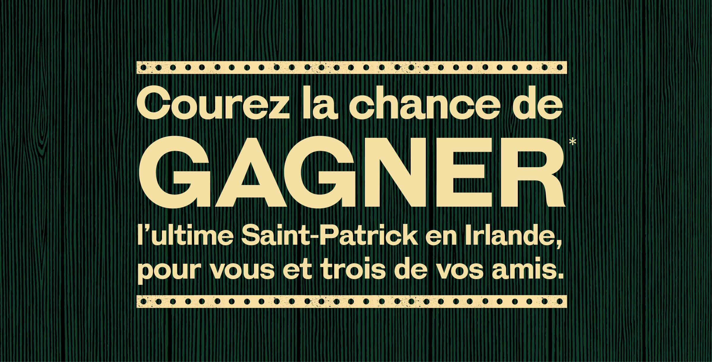 Célébrez la St. Patrick à votre manière