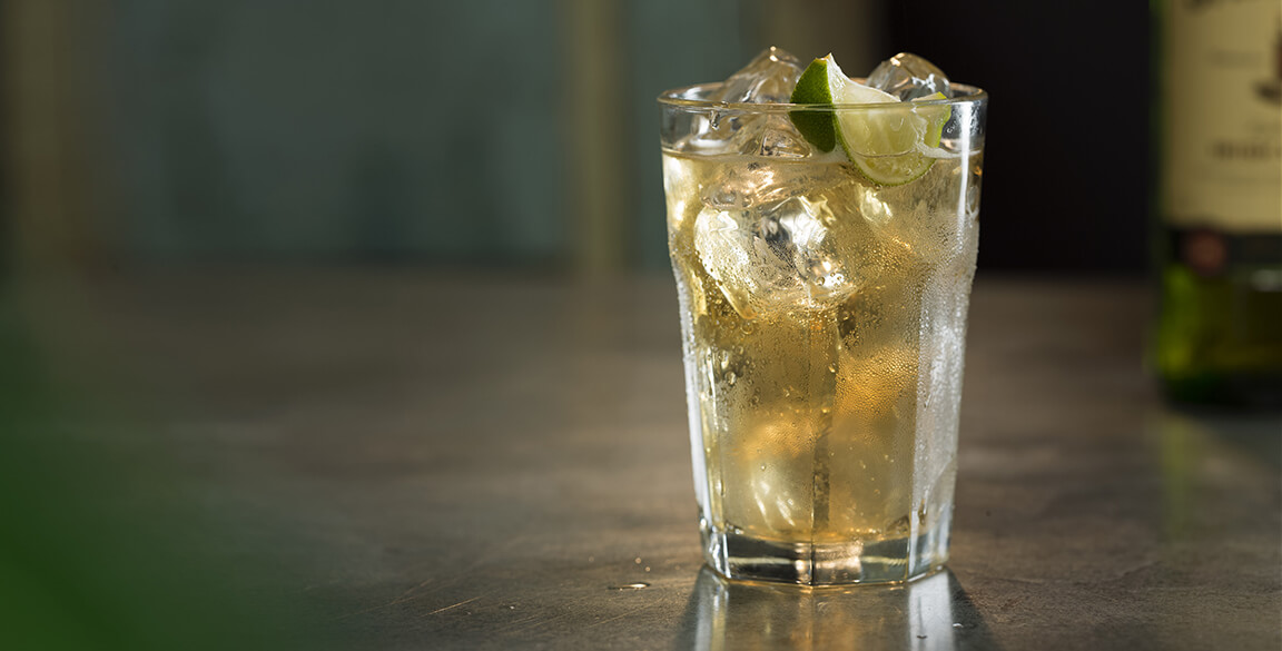 Jameson, Ginger & Lime cocktail