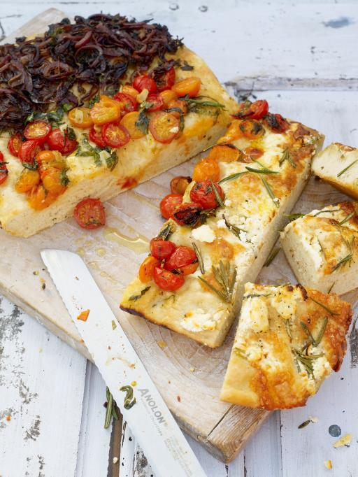 Three Flavour Focaccia Best Yummy Recipes