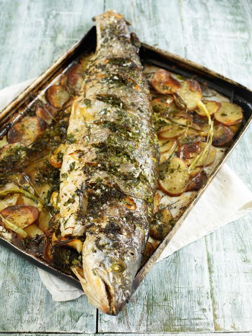 Whole Roasted Salmon Fish Recipes Jamie Oliver Recipes