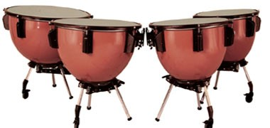 "Adams Universal, Revolution timpani, Majestic Harmonic, . Portable Sizes 20""-32""."
