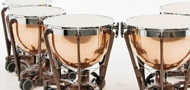 "Adams Professional Gen II, & Symphonic, Premier & Majestic Concert timps- copper bowl. Sizes 20""-32"""