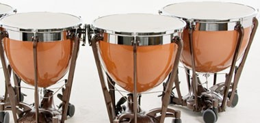 "Adams Professional Gen II, Majestic Concert timpani with fibreglass bowls. Sizes  20""-32"""