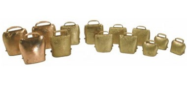 Speciality tuned cowbells/ almglocken. For Mahler & Strauss orchestral pieces. 2 octaves available.
