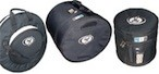 Timpani & percussion covers, kit and hardware soft bags and plastic cases