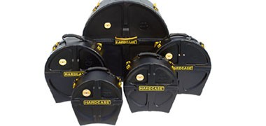 Tough solid drum cases made from polypropylene or moulded plastic. Suitable for drums and hardware.