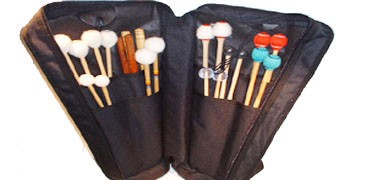Range of JAM mallet and stick bags. Small medium, large backpack mallet bag. Cymbal bag
