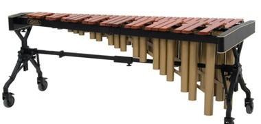 Adams, Concorde & Yamaha marimbas with Padauk or synthetic note-bars. 3-5 octave