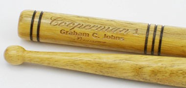Cooperman, Vic Firth orchestral and kit drum sticks. Wood or nylon tip.
