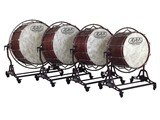 "Adams Concert Bass Drums with ""Free suspended"" stand. 28""-40"" /18"" shell depth"