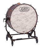 "Adams Gen II Concert Bass Drums with tilting stand & cymbal holder. 28""-40"""