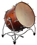 "Adams Concert Bass Drum 36""x 22"" incl. Vintage Tilting stand and cymbal holder"