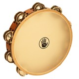 "Black Swamp  Tambourine Dbl. row 10"" - German Silver"