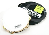 "Grover 10"" Double Row SV tambourine  Brass/ Silver jingles with Bag and Roll Rin"